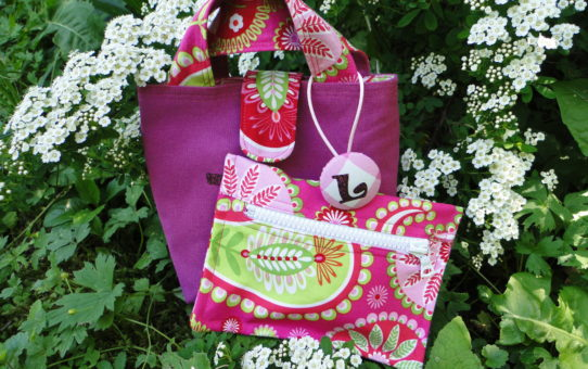 Glitter, Paisley and Gingham Meet in a Bag