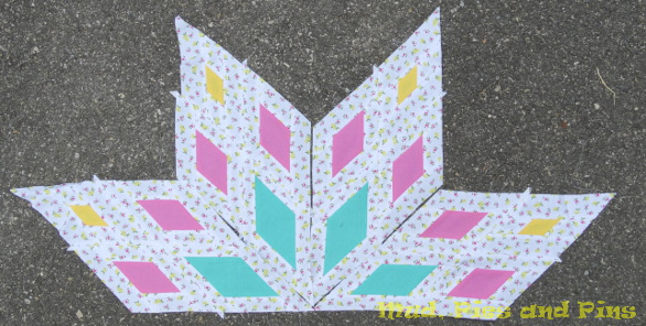 Citrus Starburts Quilt Pieces | Mud, Pies and Pins