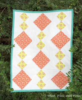 Diamonds mini quilt by Mud, Pies and Pins