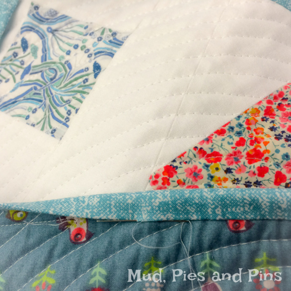 """Tumbled"" Liberty mini quilt | Mud, Pies and Pins"
