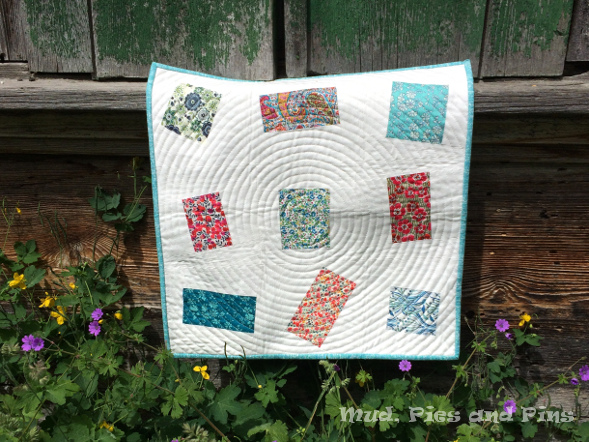"""Tumbled"" Liberty mini quilt 