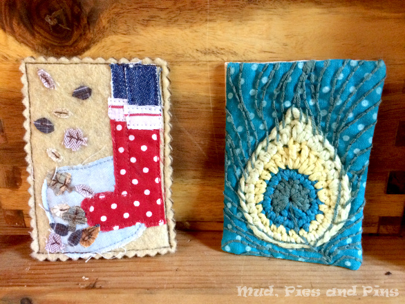 Fabric ATCs | Mud, Pies and Pins