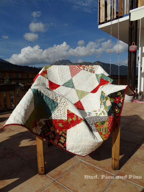 Spinning card quilt