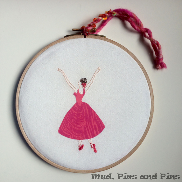 Ballerina hoop art by Mud, Pies and Pins