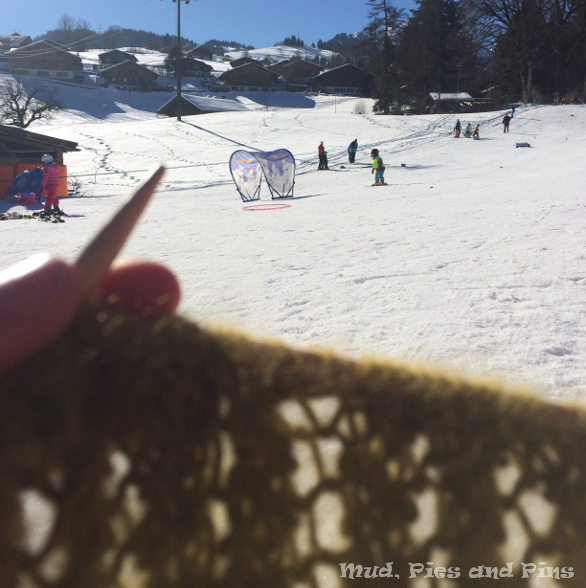 Knitting in the snow | Mud, Pies and Pins