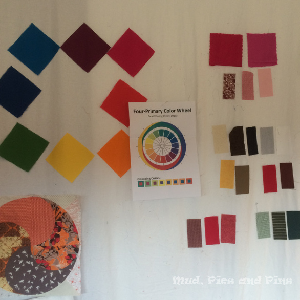 Colour theory class at Peaks 7 | Mud, Pies and Pins