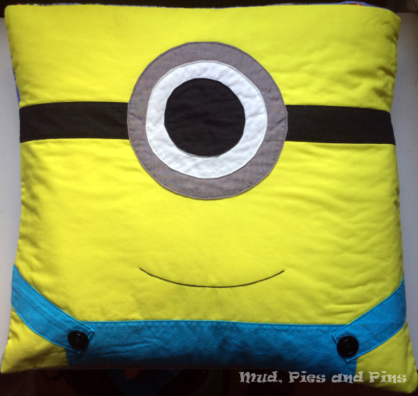 Minion Pillow | Mud, Pies and Pins