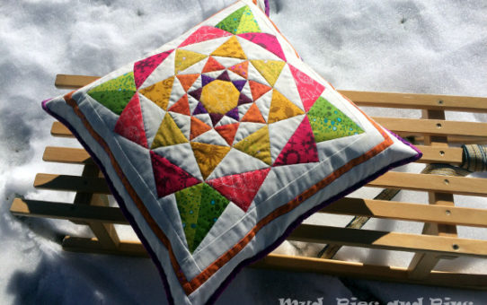 A Spring Pillow Part 2 - Snow and Sew