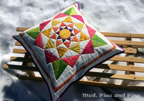EPP Spring Pillow | Mud, Pies and Pins