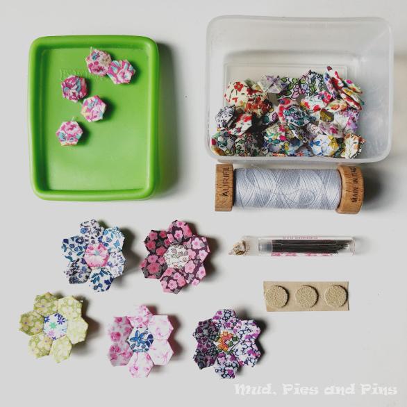 Micro hexies for EPP on the go | Mud, Pies and Pins