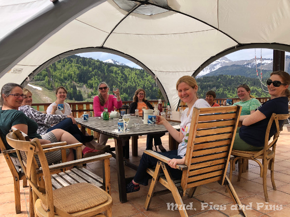 Tea on teh terrace at Peaks 13| Mud, Pies and Pins