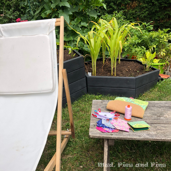 Sewing in the sun | Mud, Pies and Pins