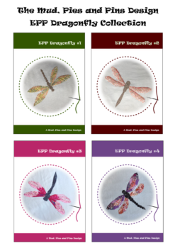 EPP Dragonfly patterns | Mud, Pies and Pins