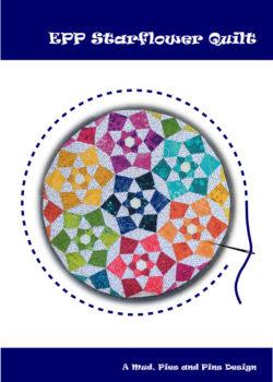 EPP Starflower Min Quilt Pattern   Mud, Pies and Pins