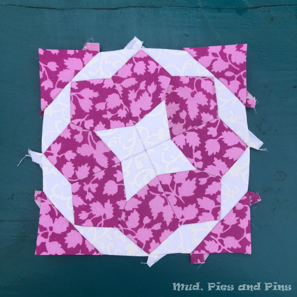 Countdown Quilt Block 9   Mud, Pies and Pins