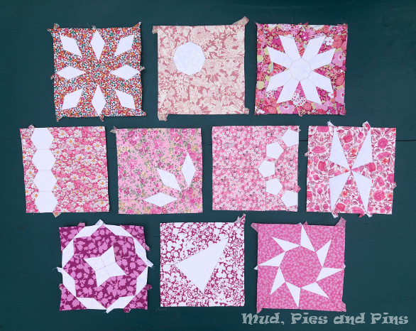 Countdown Quilt Blocks 1-10   Mud, Pies and Pins