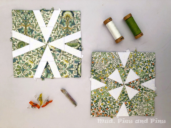 The Countdown Quilt Blocks 23 and 24 | Mud, Pies and Pins