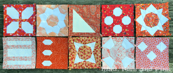 The Countdown Quilt Blocks 41-50 / Mud, Pies and Pins