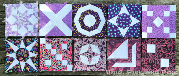 Countdown Quilt Blocks 51 to 60 | Mud, Pies and Pins