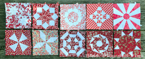 Countdown Quilt Blocks 61 - 70 | Mud, Pies and Pins