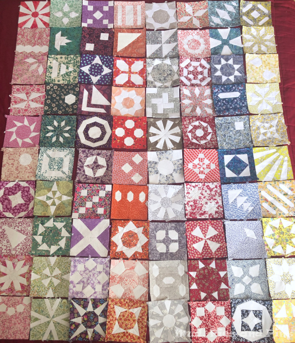 The Countdown Quilt blocks 1-80 | Mud, Pies and Pins