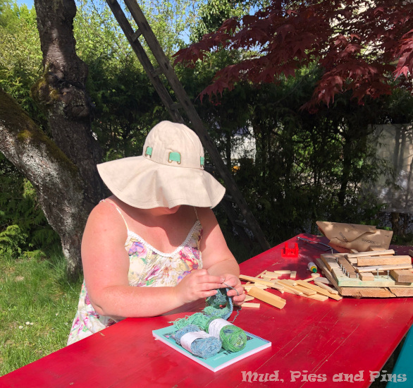 Garden crochet and woodwork | Mud, Pies and Pins