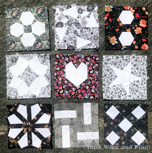 The Countdown Quilt black blocks | Mud, Pies and Pins